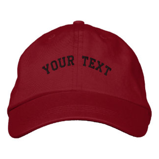 Basic Embroidered Red Cap Template Embroidered Hat