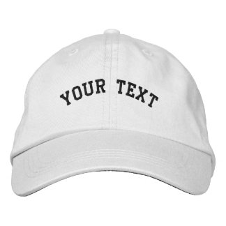 Basic Embroidered White Cap Template Embroidered Baseball Caps