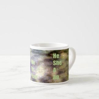 basic english pattern espresso cup