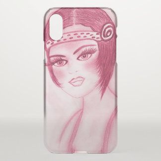 Basic Flapper - Pinky Red iPhone X Case