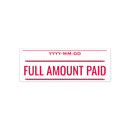"""Basic """"FULL AMOUNT PAID"""" Rubber Stamp"""