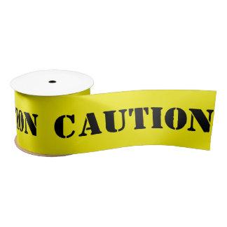 Basic Fun Faux Caution Yellow Tape Satin Ribbon