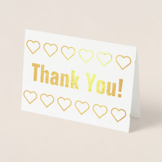 "Basic Gold Foil ""Thank You!"" Card"