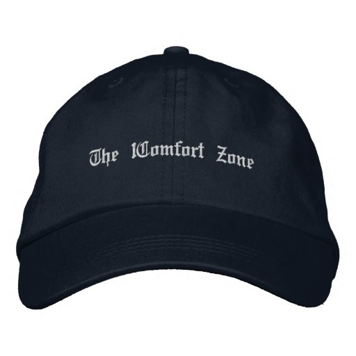 Basic hat w/fancy text embroidered hat