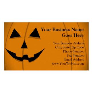 Basic Jack-O-Lantern Shape Design Business Cards