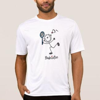 Basic Male Stick Figure Badminton T-Shirt