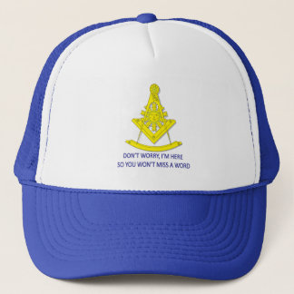 BASIC MASONIC PAST MASTER TRUCKER HAT