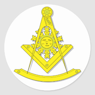 BASIC MASONIC PAST MASTER'S STICKER