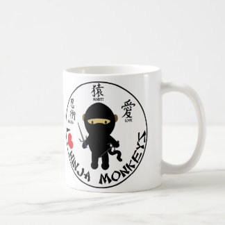 Basic Mug - I love ninja monkeys
