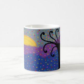 basic mug with sunset/tree design modern