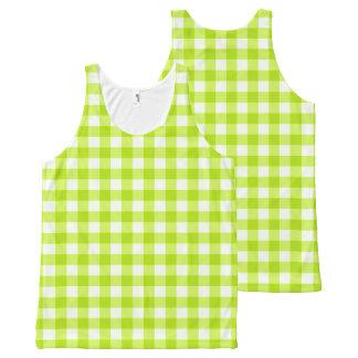 Basic Neon Lime Green Gingham