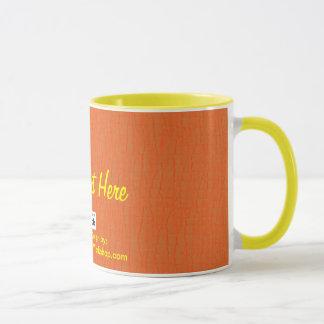 Basic Orange, Your Text Here Mug