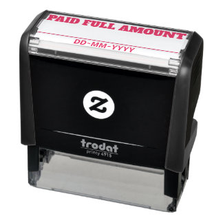 "Basic ""PAID FULL AMOUNT"" Rubber Stamp"