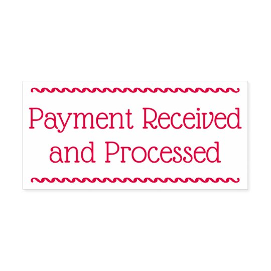 "Basic ""Payment Received and Processed"" Self-inking Stamp"