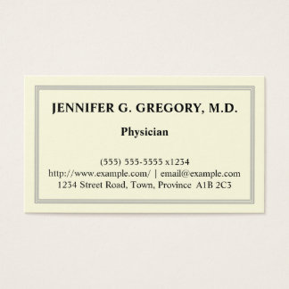 Basic Physician Business Card