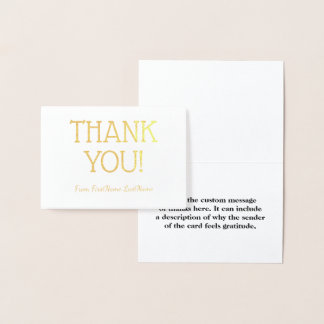 "Basic & Plain ""THANK YOU!"" Card"