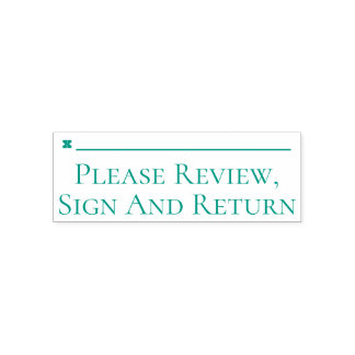 "Basic ""Please Review, Sign And Return"" Self-inking Stamp"