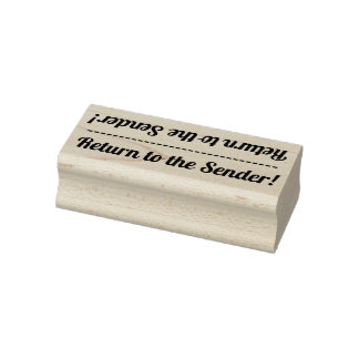 "Basic ""Return to the Sender!"" Rubber Stamp"