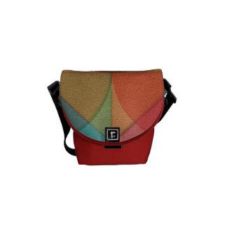 Basic shapes messenger bag
