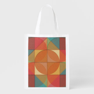Basic shapes reusable grocery bag