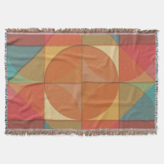 Basic shapes throw blanket