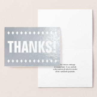 "Basic Silver Foil ""THANKS!"" Card"