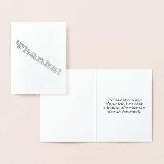 "Basic, Simple & Custom ""Thanks!"" Card"