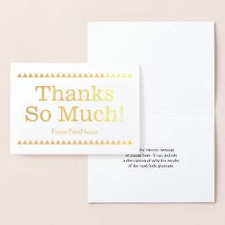 "Basic, Simple & Elegant ""Thanks So Much!"" Card"