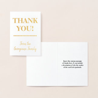 "Basic, Simple ""THANK YOU!"" Card"