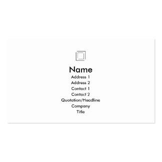 Basic - Squares - Black Business Card