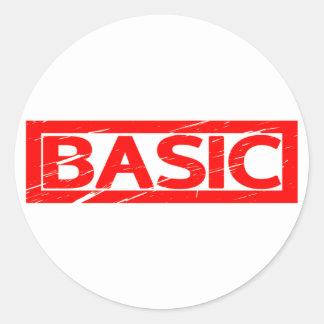 Basic Stamp Classic Round Sticker