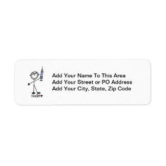 Basic Stick Figure Doctor Return Address Label