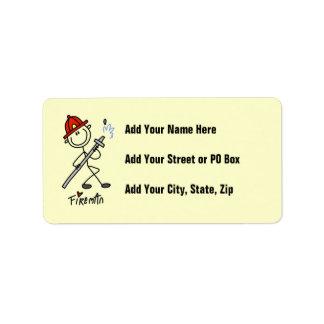 Basic Stick Figure Fireman T-shirts and Gifts Label
