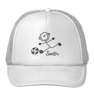 Basic Stick Figure Soccer T-shirts and Gifts Trucker Hat