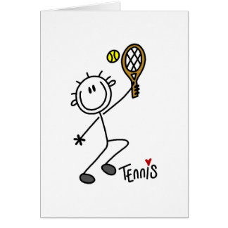 Basic Stick Figure Tennis Tshirts and Gifts Card
