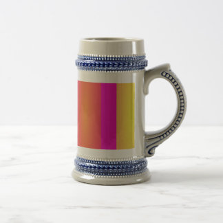 Basic Stripes Fuchsia Mugs