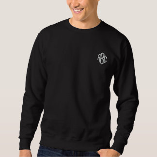Basic Sweatshirt Black Embroidered Monogram