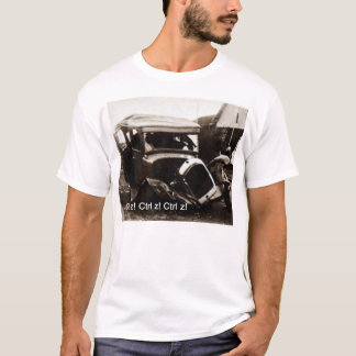 Basic T-shirt with classic car crash  and Ctrl z