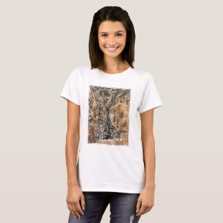 Basic T-Shirt with Forest Illustration 1