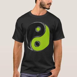 Basic tee-shirt man Black Yin Yang/Green Anise T-Shirt
