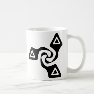 Basic Tri Arrows (black) Coffee Mug