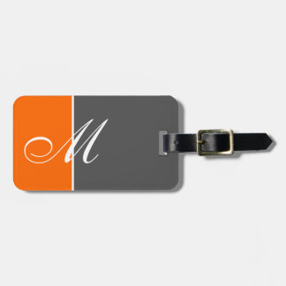 Basic Two Color Orange Luggage Tag