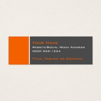 Basic Two Colour Orange 2 Mini Business Card