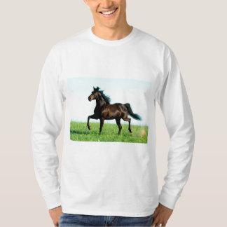 Basic, White Long mango - Designer Horse T-Shirt