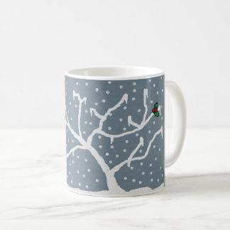 basic white mug with frosty design