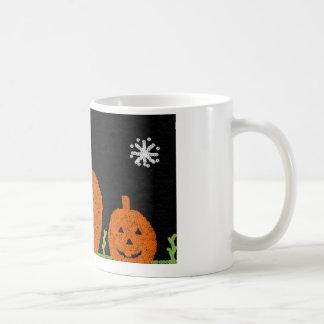Basic white mug with halloween pumpkin design