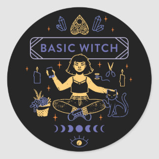 Basic Witches - Camille Chew Classic Round Sticker