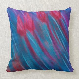 """""""Basie Blue"""" Cotton Throw Pillow"""