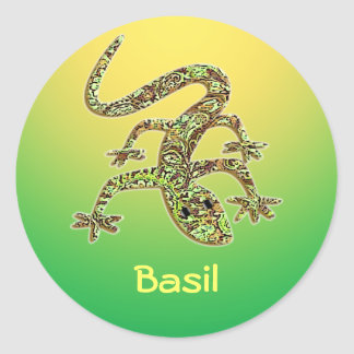 Basil Lizard Salamander Gecko Sticker