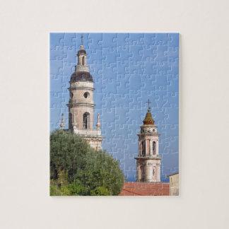 Basilica at Menton in France Jigsaw Puzzle